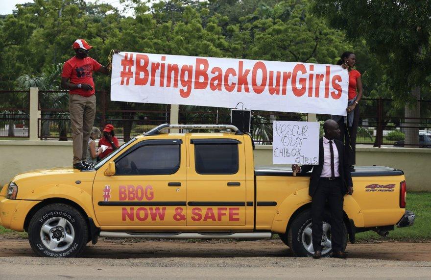 """Protesto akcija prieš """"Boko Haram"""" teroristus"""