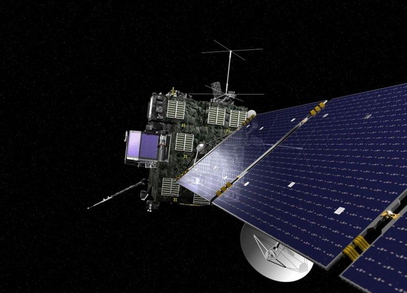 """Žadintuvo skambutis turi """"pažadinti""""kosmose esnatį kometos zondą """"Rosetta"""""""