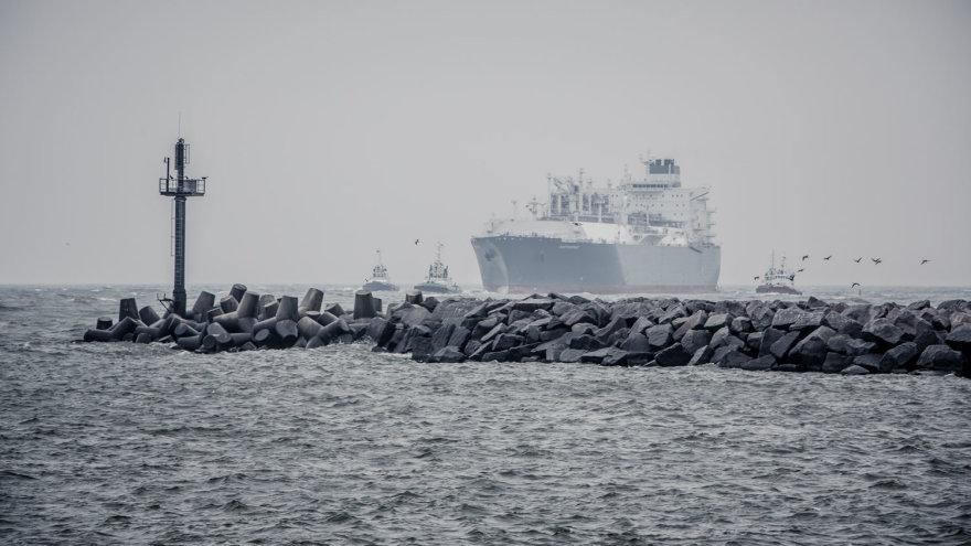 """Klaipėdoje pasitinkamas laivas """"Independence"""""""