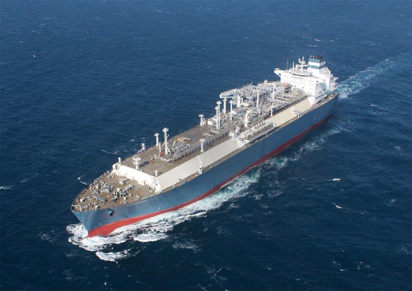 """""""Independence"""" laivas-dujų saugykla išbandytas jūroje."""