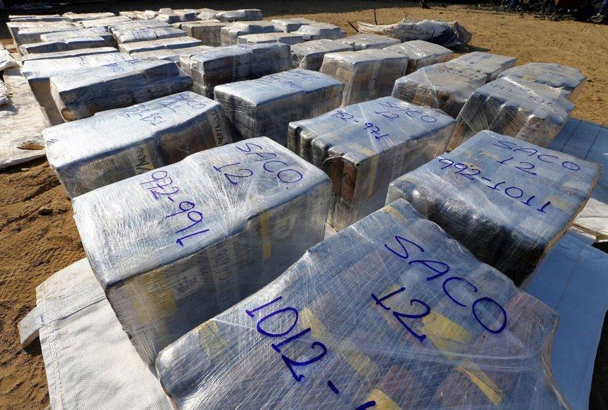 Sulaikyto kokaino pakuotės