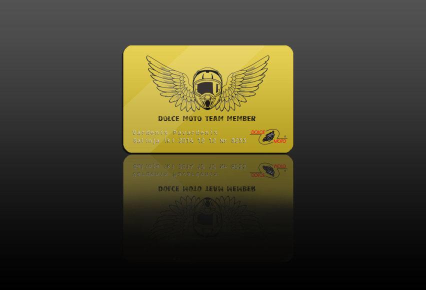 """Dolce Moto"" kortelė"