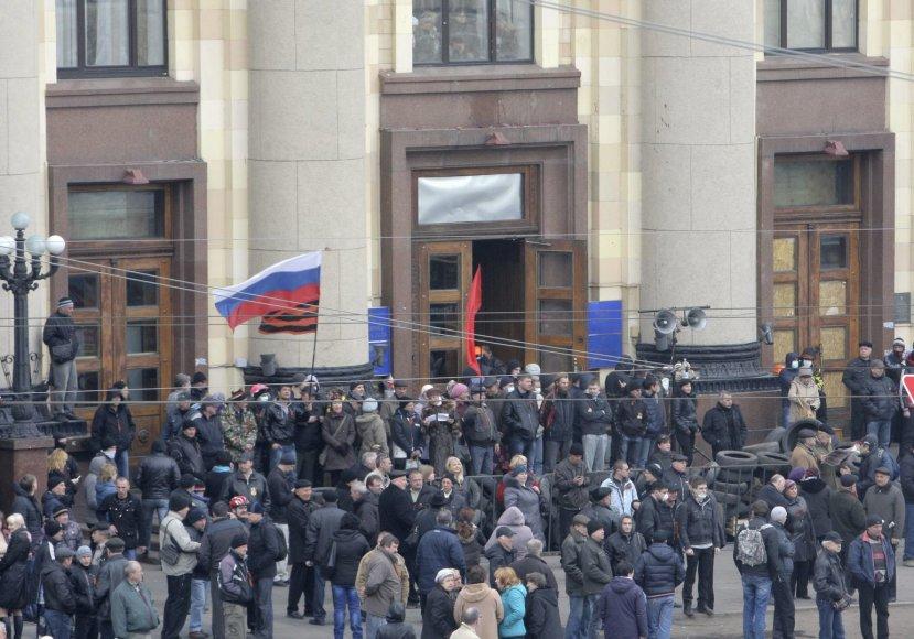 Prorusiški protestuotojai Charkove