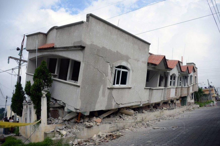 Žemės drebėjimo padariniai Gvatemaloje