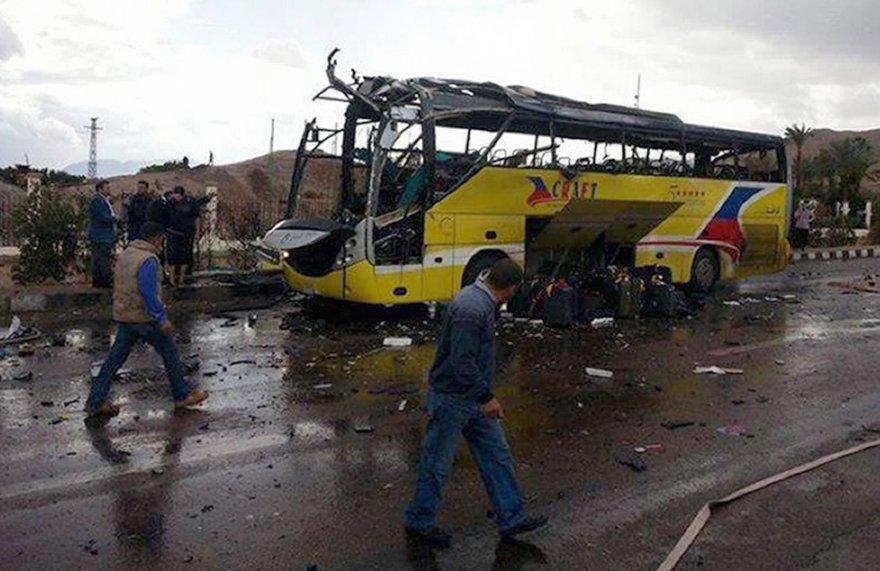 Egipte įvyko sprogimas turistų autobuse.
