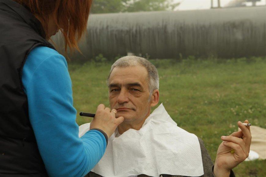 Valerijus Jevsejevas – pasiruošimas filmavimui.