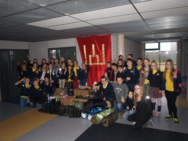 Vilniaus Balsių pagrindinėje mokykloje buvo renkama parama Ukrainos kariams.