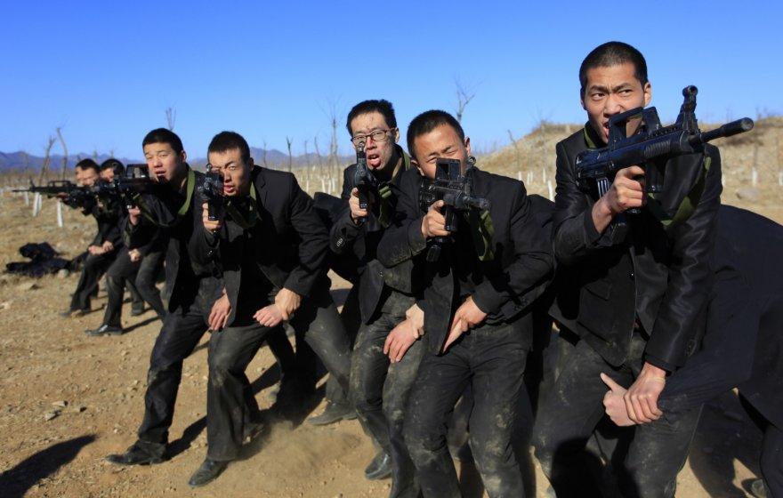 Asmens sargybinių treniruotė