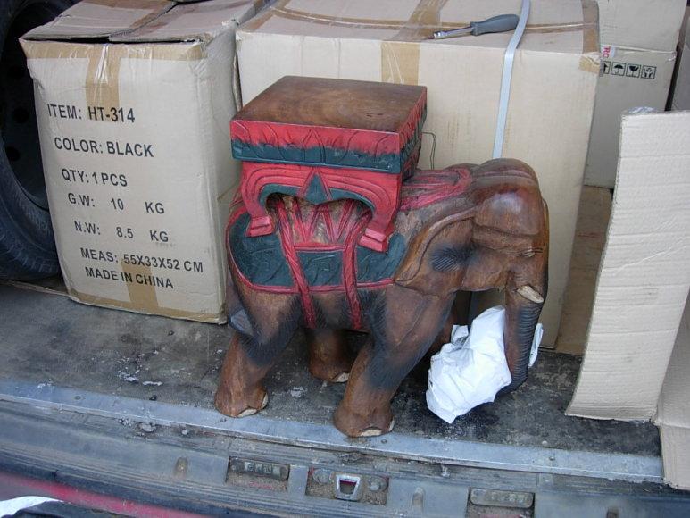 Drožinėtas dekoratyvinis dramblys