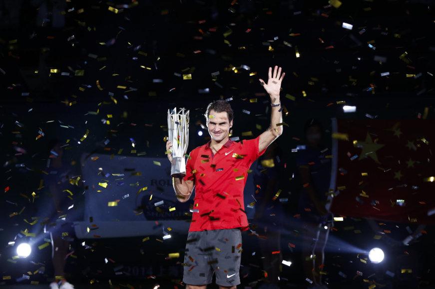 """Rogeris Federeris iškovojo 23-ią """"Masters"""" trofėjų"""