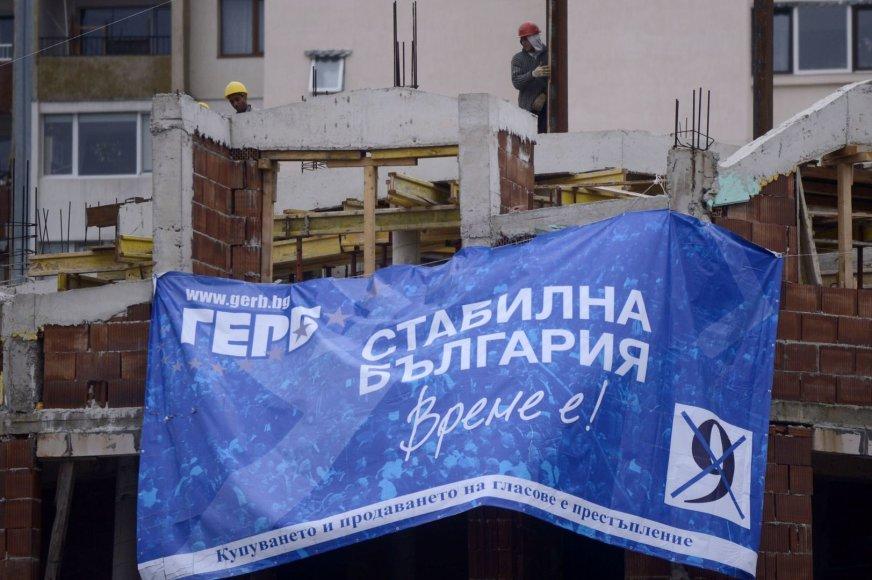 Pirmoje vietoje yra buvusio premjero Boiko Borisovo dešiniojo sparno partija GERB