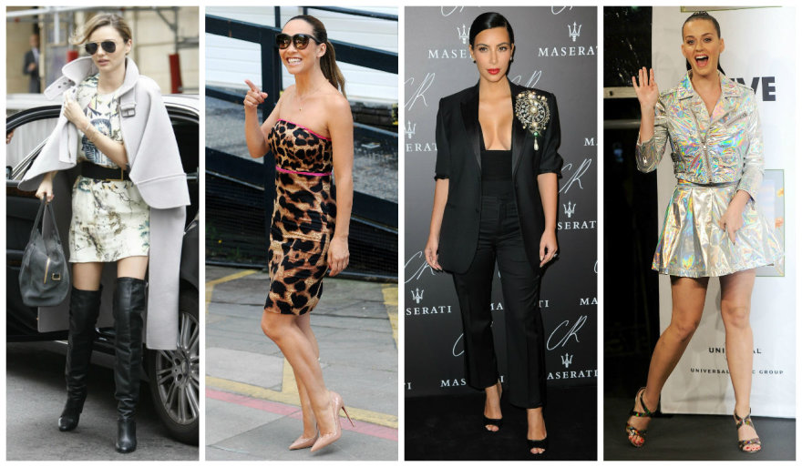 Miranda Kerr, Myleene Klass, Kim Kardashian ir Katy Perry