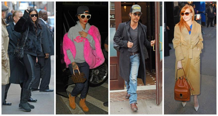 Žvaigždžių gatvės stilius: Adriana Lima, Rihanna, Matthew McConaughey ir Jessica Chastain