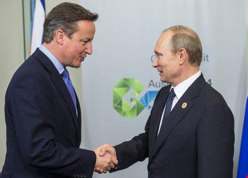 Davidas Cameronas ir Vladimiras Putinas