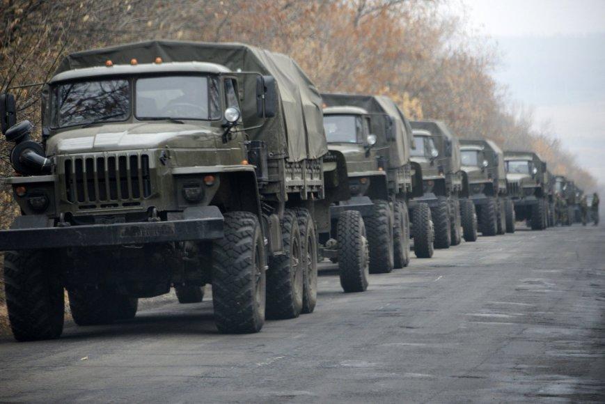 Smogikų karinė technika prie Donecko 2014 m. lapkričio 09 d.