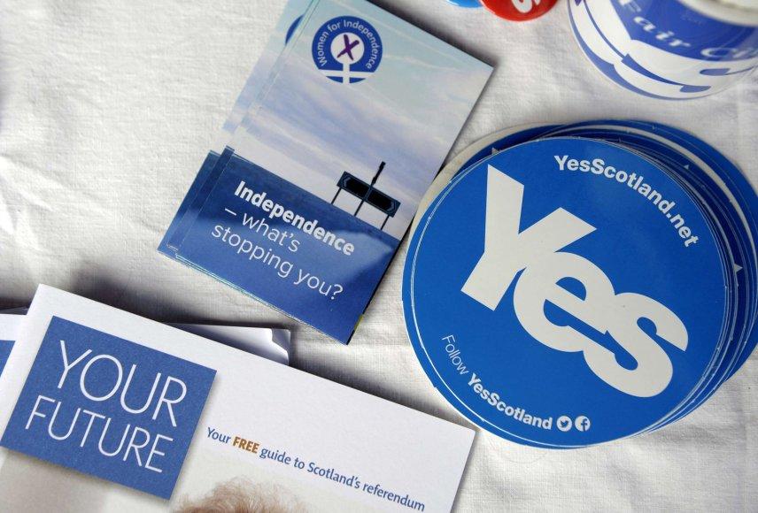 Didėja Škotijos nepriklausomybės palaikymas