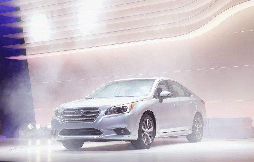 """Naujos kartos """"Subaru Legacy"""" pristatymas Čikagos automobilių parodoje"""