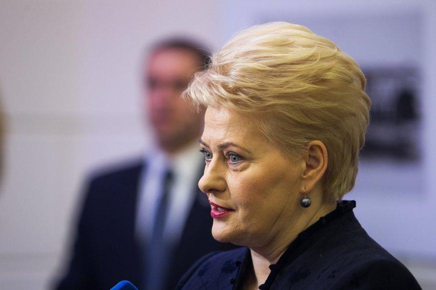 """Prezidentė Dalia Grybauskaitė lankėsi """"Knygų Kalėdų"""" kūrybinėse dirbtuvėse"""