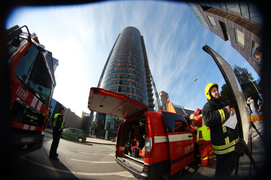 Ugniagesių pratybos Vilniuje