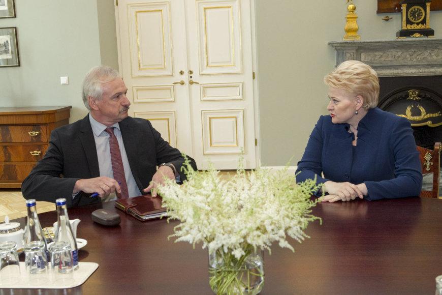 Evaldas Gustas susitiko su Dalia Grybauskaite