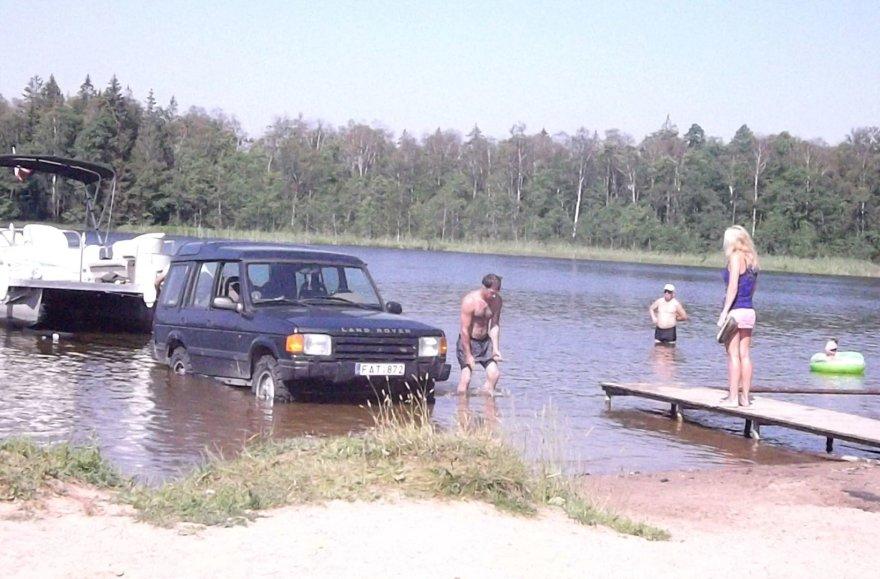 "Visureigis ""Land Rover"" Germanto ežere"