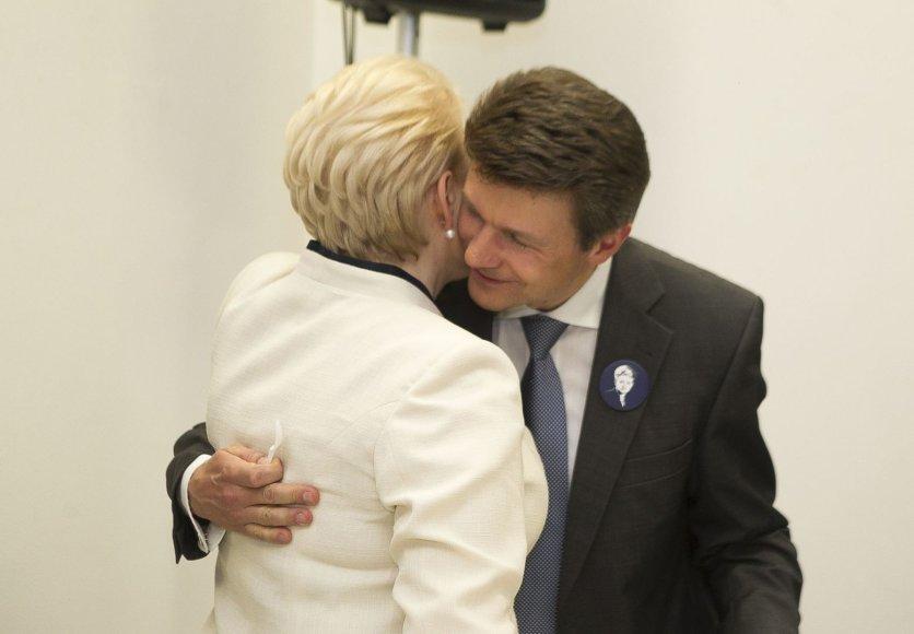 Dalia Grybauskaitė ir Romas Švedas
