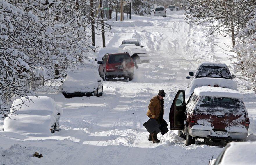 Sniegas Indianapolyje