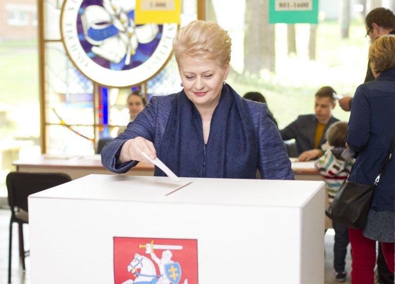 Dalia Grybauskaitė balsavo prezidento rinkimuose