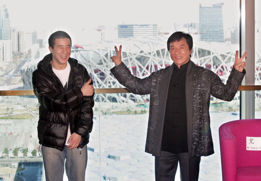 Jackie Chanas su sūnumi Jaycee Chanu