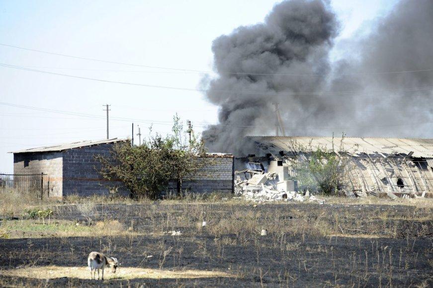 Donecko regione dega pastatas
