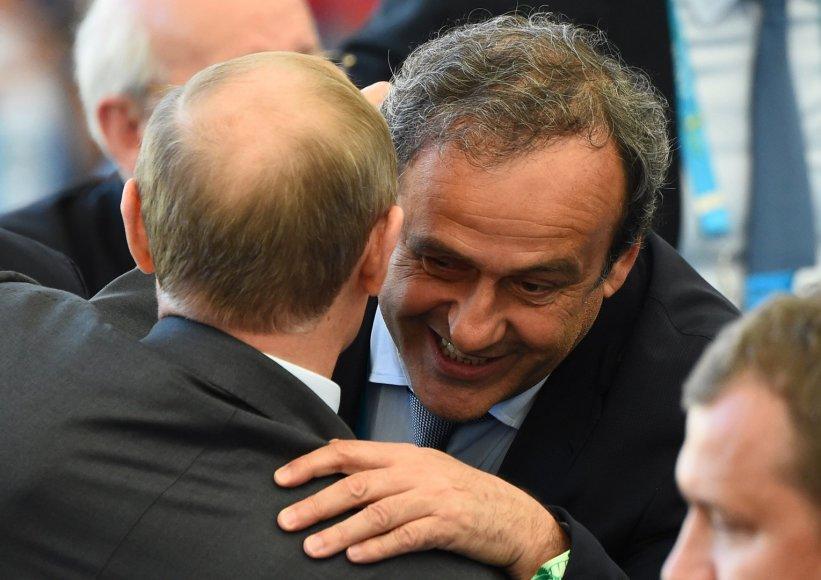 Vladimiras Putinas ir Michelis Platini