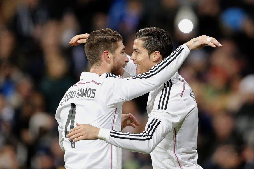 Sergio Ramosas ir Cristiano Ronaldo