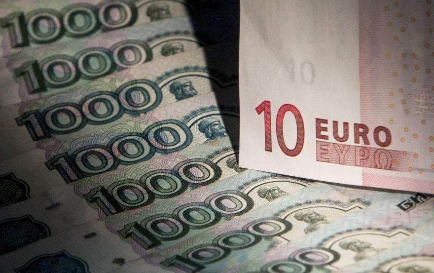 Rusijos rubliai ir 10 eurų