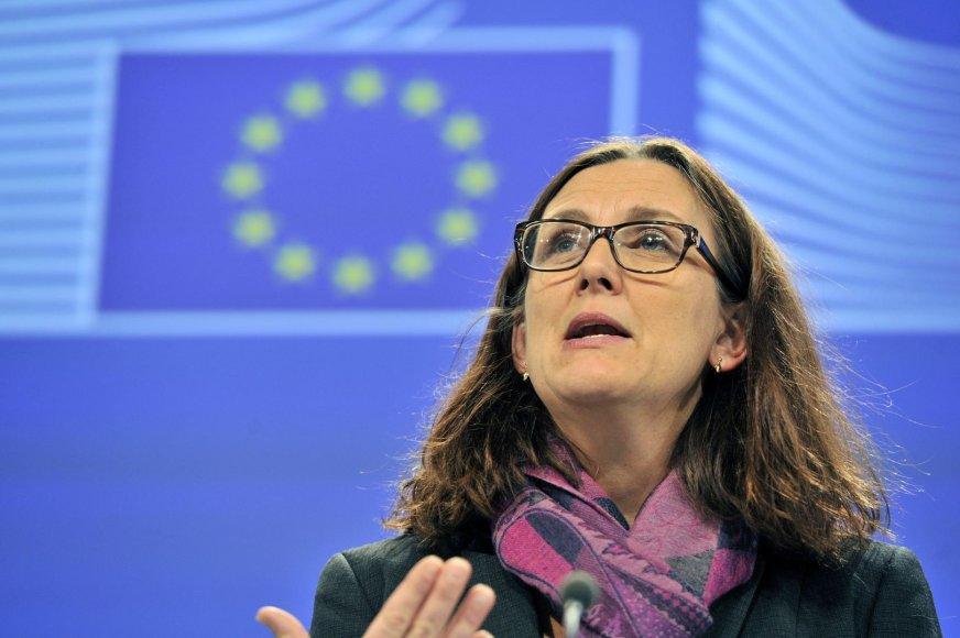 ES prekybos komisarė Cecilia Malmstroem