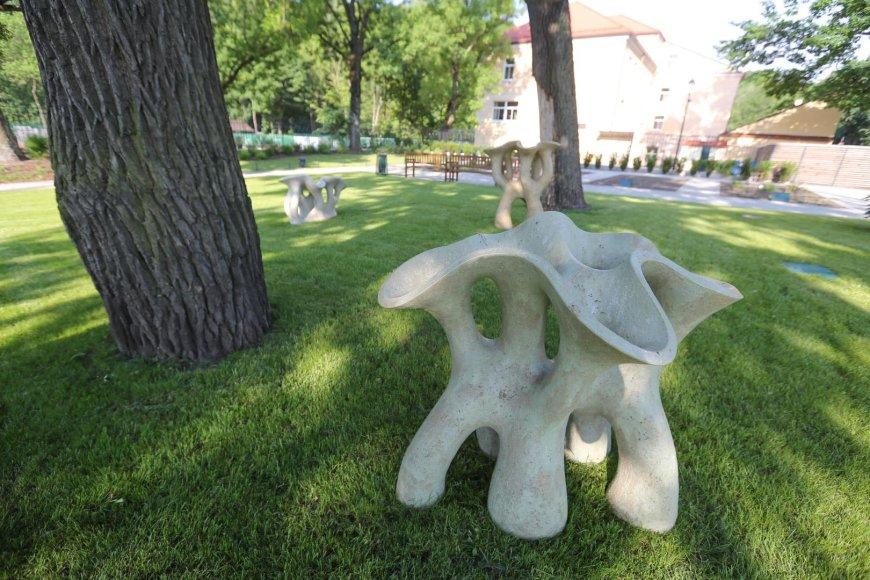 Skulptūros Bernardinų sode