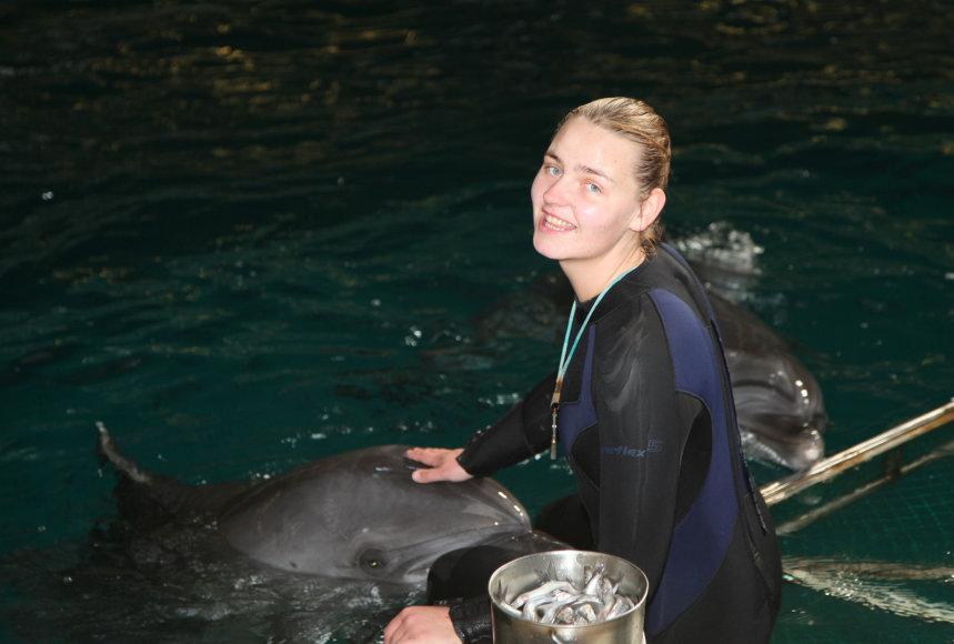 delfinų trenerė Vida Kazlauskienė