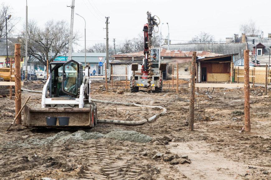 Kalvarijų turgus tapo statybų aikštele