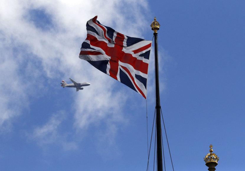 """""""Reuters""""/""""Scanpix"""" nuotr./Jungtinės Karalystės vėliava"""