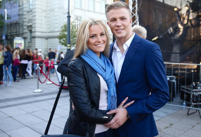 Paulius Bagdanavičius su žmona Lina