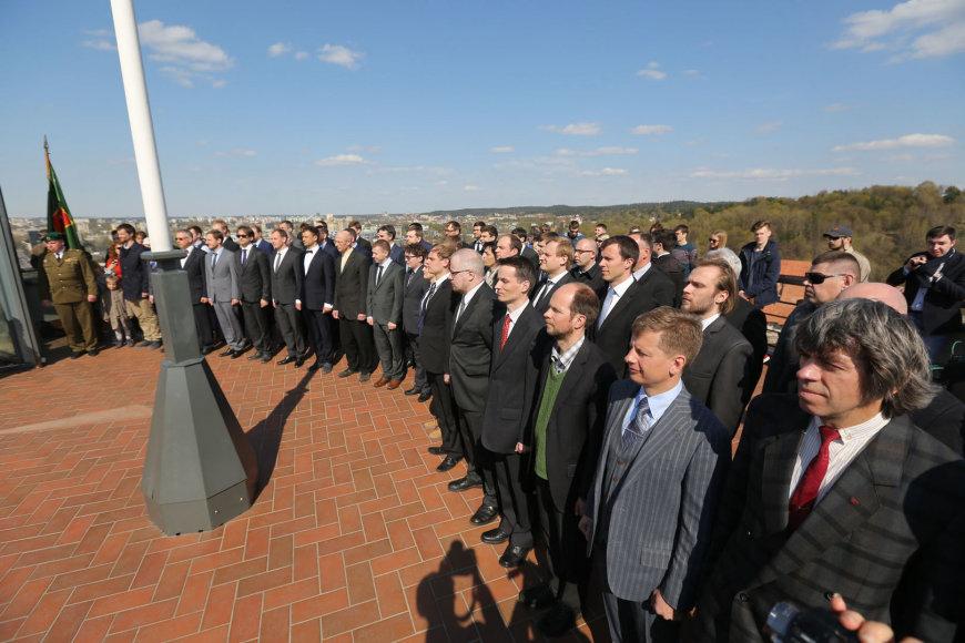 Vilniaus šaulių kuopos naujokų priesaikos ceremonija