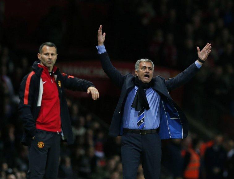 Ryanas Giggsas ir Jose Mourinho