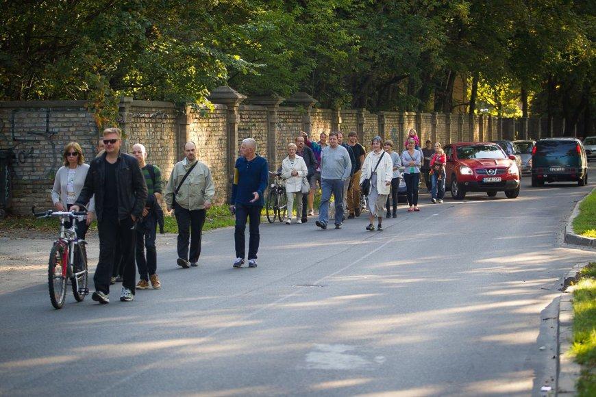 Protesto akcija Vilniaus P.Vileišio gatvėje.