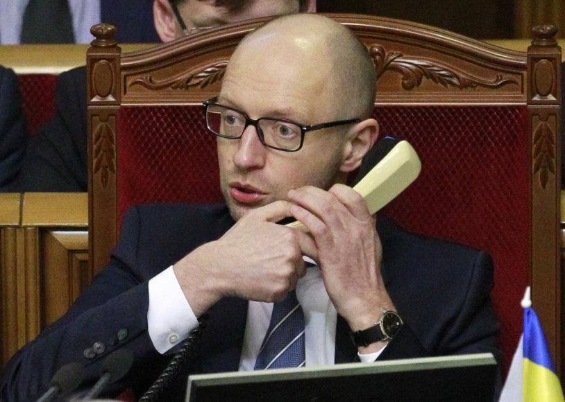 Ukrainos ministras pirmininkas Arsenijus Jaceniukas