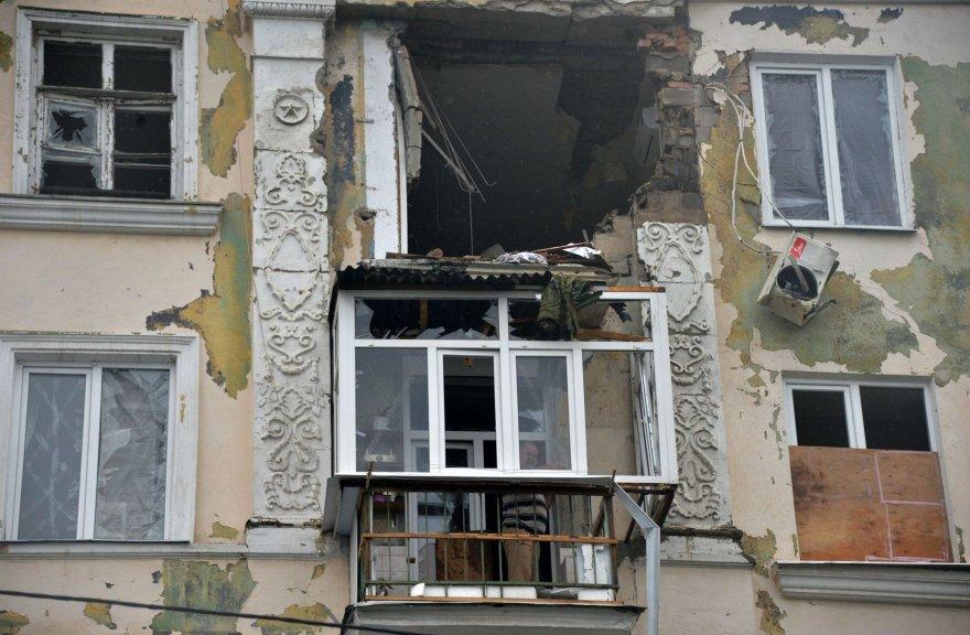 Apšaudytas pastatas Luhanske