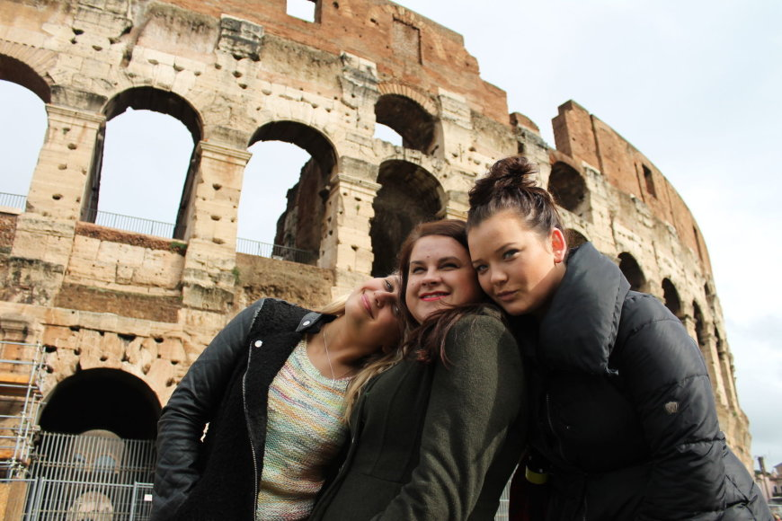 Bertos Timinskaitės atostogų Romoje akimirka