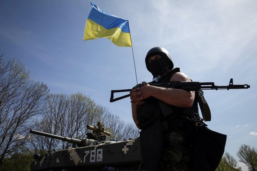 Ukrainos kariai budi netoli Slovjansko