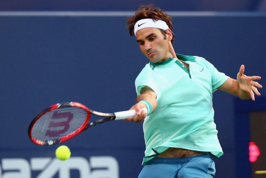 """Rogeris Federeris siekia trečio """"Rogers Cup"""" čempiono titulo"""