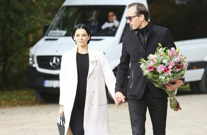 Agnė Jagelavičiūtė su vyru Mantu