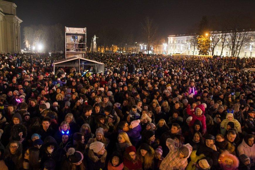 Lietuvos Kalėdų eglutės įžiebimas Katedros aikštėje