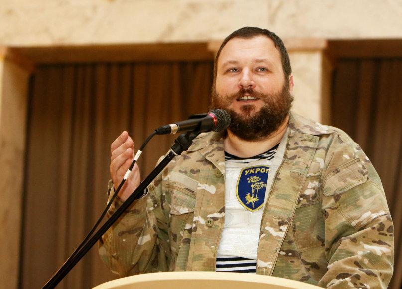 Ukrainos savanorių bataliono būrio vadas dr. Evgenijus Dykyjus
